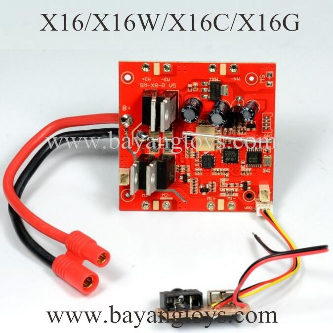 BAYANGTOYS X16 X16W sky-hunter Receiver Board
