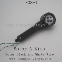 SONGYANGTOYS X38-1 Parts-Motor with Holder Black wire