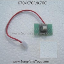 Kai deng K70 Quadcopter power on off wire