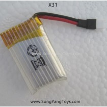 Song yang toys X31 pocket quadcopter battery