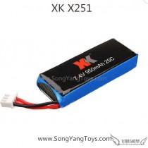 Wltoys XK X251 quadcopter lipo battery