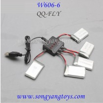 HUAJUN W606-6 drone charger and battery