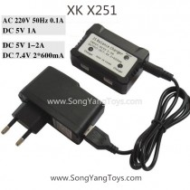 XK X251 Whirlwind Quadcopter upraded EU Charger