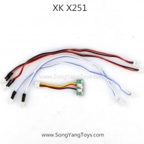 XK X251 Whirlwind Quadcopter LED light wire